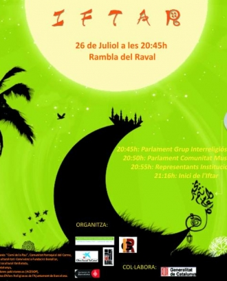 Cartell de l'Iftar popular del Raval 2012