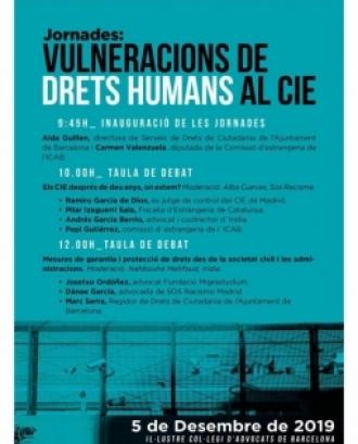 Cartell Jornades: Vulneracions de Drets Humans al CIE