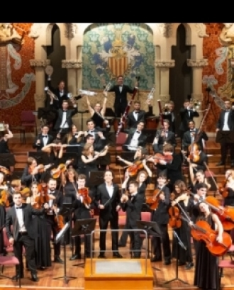 Músics de la Jove Orquestra Simfònica de Barcelona.