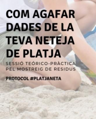 Sortida formativa per la recollida i mostreig de brossa de les platges a la Platja de Fenals #PlatjaNeta