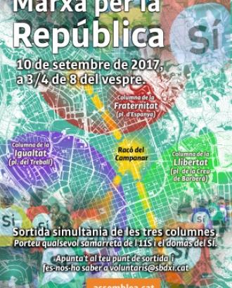 Marxa per la República a Sabadell