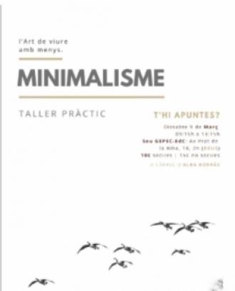 Taller de minimalisme dissabte 9 de març a Reus amb el Gepec
