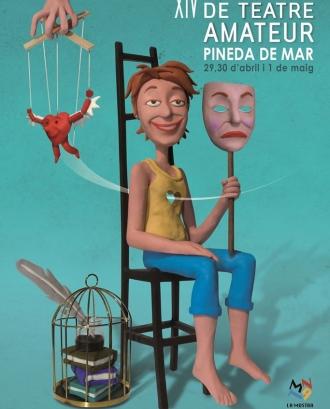 Cartell 14a Mostra Nacional de Teatre Amateur de Pineda de Mar Font: