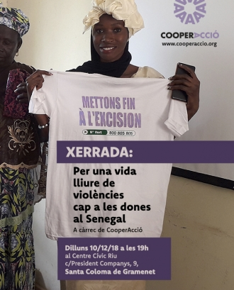 Les xerrades es centraran en l'eradicació de la mutilació genital femenina i els matrimonis forçats precoços.. Font: Cooperacció.
