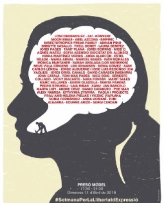 Cartell de la 'Setmana per la llibertat d'expressió'