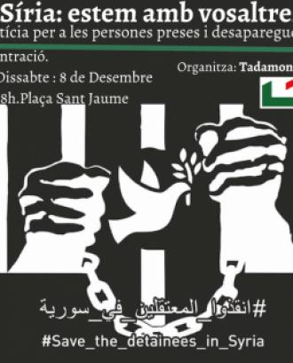 L'objectiu és reclamar justícia per a totes les persones preses i desaparegudes a les presons de Síria. Font: Tadamon.