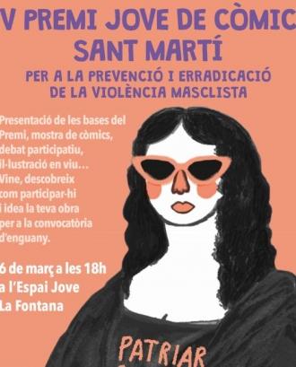 5a edició del Premi Jove de Còmic Sant Martí, per a la prevenció i eradicació de la violència masclista