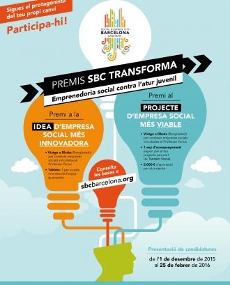 Premis SBC Transforma. Emprenedoria Social contra l'Atur juvenil