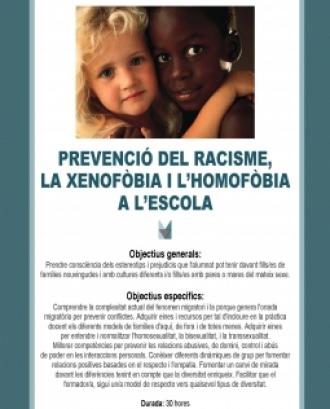 Prevenció del Racisme, xenofòbia i homofòbia a l'escola
