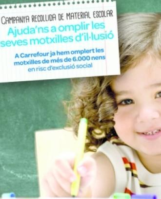 Cartell Tornada a l'Escola Solidària. Font: Creu Roja