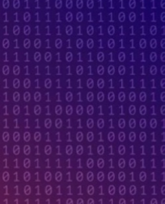 Fotografia d'uns números binaris.