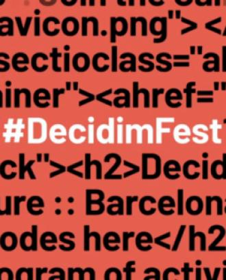 Captura vídeo promocional Decidim Fest 2019