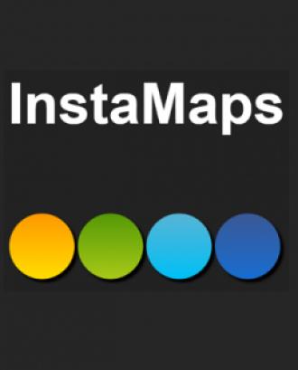 Logotip de Instamaps. Instamaps és una plataforma per crear i visualitzar mapes.