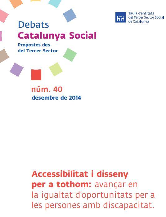 Portada de Accessibilitat i disseny per a tothom: avançar en la igualtat d