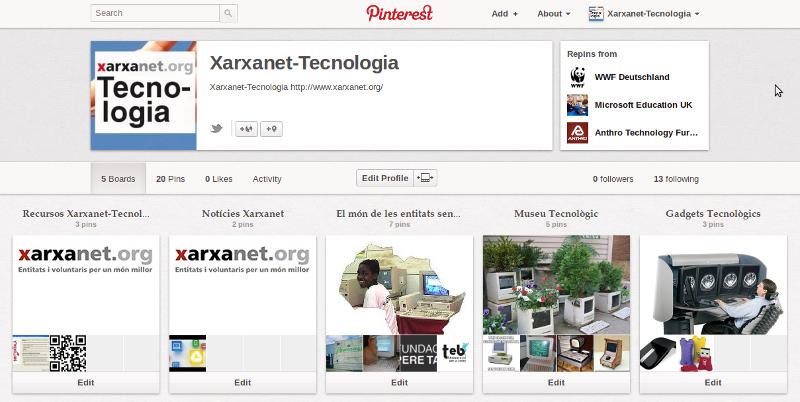 Pinterest, la nova xarxa social Font: