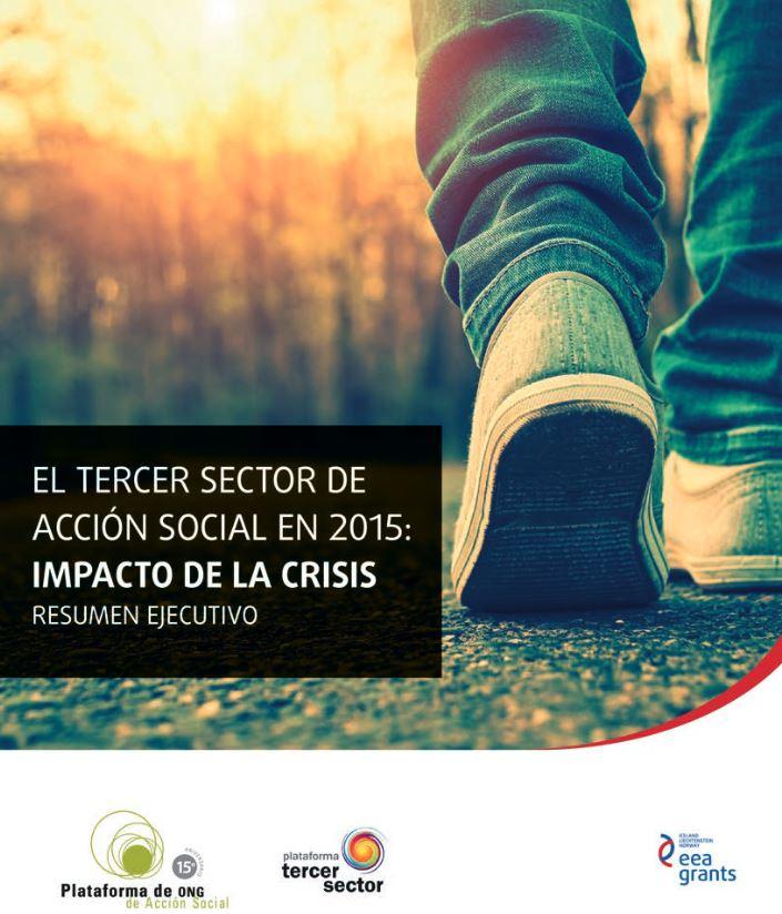 Portada de El tercer Sector de Acción Social en 2015: Impacto de la crisi