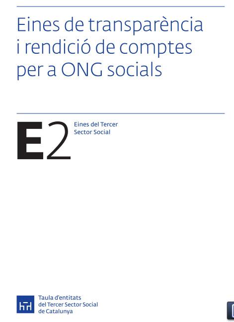 Portada de Eines de transparència i rendició de comptes per a ONG socials