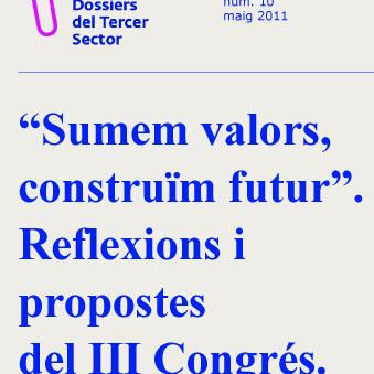 Portada de Sumem valors, construïm futur: reflexions i propostes del III Congrés