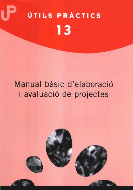 Portada de Manual bàsic d'elaboració i avaluació de projectes