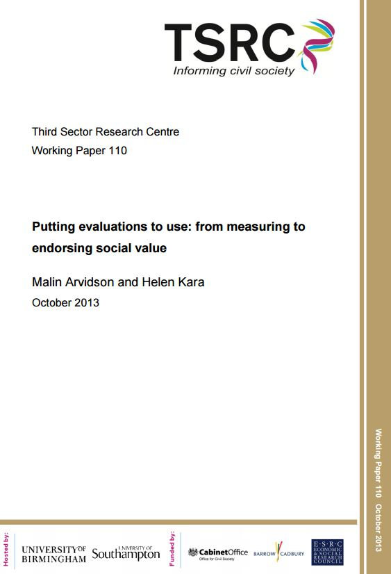 Portada de Putting evaluations to use: from measuring to endorsing social value