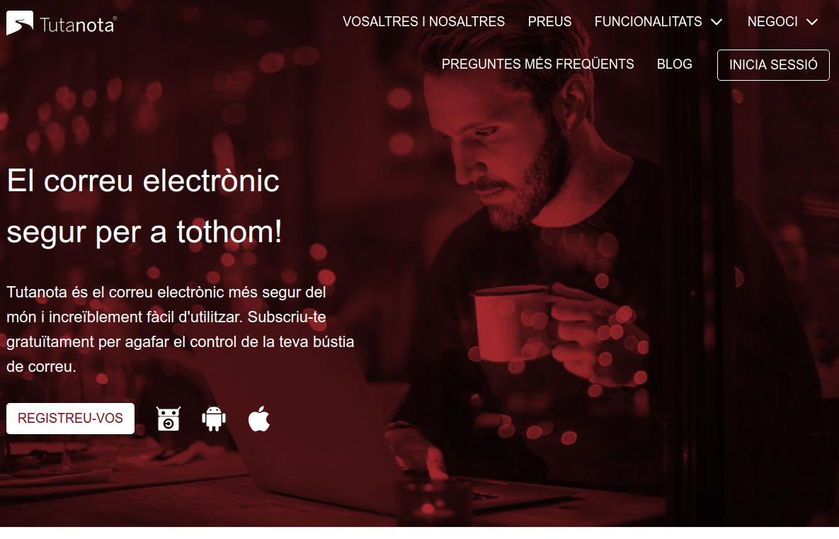 Tutanota és una eina de correu electrònic segura Font: Tutanota