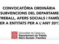"""Imatge de la notícia Vídeotutorial """"Subvencions a entitats del Dep Treball, Afers Socials i Famílies"""""""