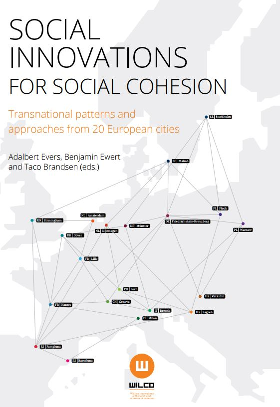 Portada de Social innovations for social cohesion: transnational patterns and approaches from 20 European cities