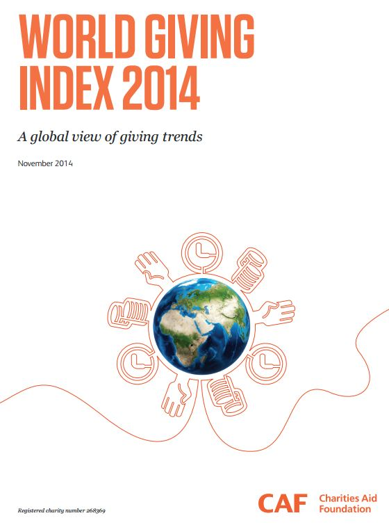 Portada de World giving index 2014: a global view of giving trends