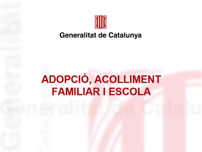 Portada de Adopció, acolliment familiar i escola