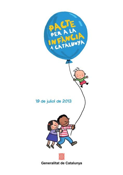 Portada de Pacte per a la infància a Catalunya: 19 de juliol de 2013